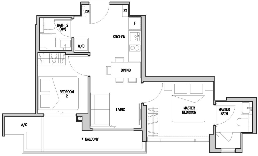 RV Altitude Condo - Floor Plan - +65